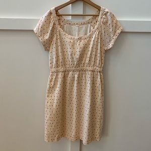 j crew tea stained polka dot dress